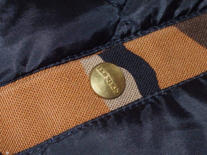 Carhartt-カーハート-オレンジカモ柄-ワークジャケット-内ポケット‐アップ画像