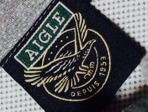 AIGLEエーグル-ジャージー生地-ベスト-ラベル