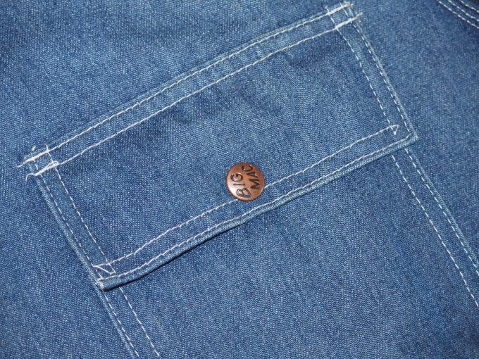 BIGMACビッグマック-80年代-カバーオール-フラップ付きの胸ポケット