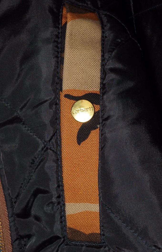 Carhartt-カーハート-オレンジカモ柄-ワークジャケット-内ポケット
