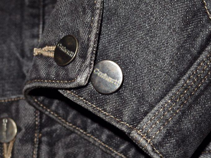 Carhartt-カーハート-ユーズド加工-カバーオール-袖先のタックボタン