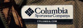 Columbiaコロンビア-迷彩柄マウンテンパーカー-襟ぐりのラベル