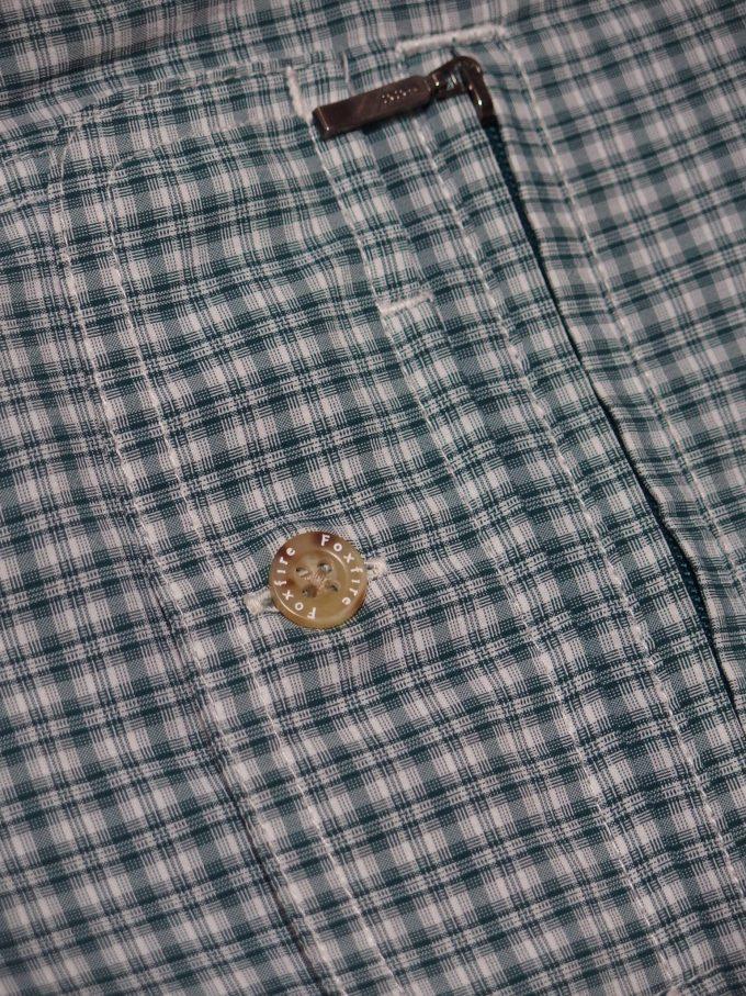 Foxfire-フォックスファイヤー-チェックシャツ-ファスナー付きポケットとフラップ付きポケット-アップ画像