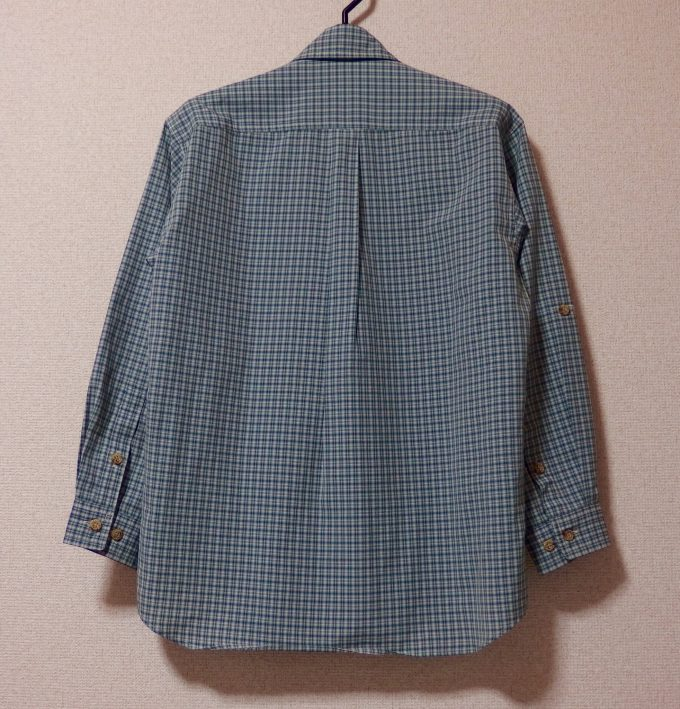 Foxfire-フォックスファイヤー-チェックシャツ-背面画像