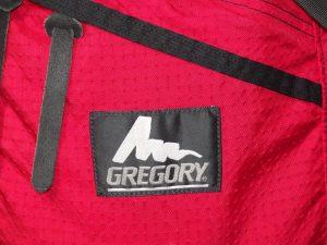 GREGORY グレゴリー デイパック ロゴとジッパータブ