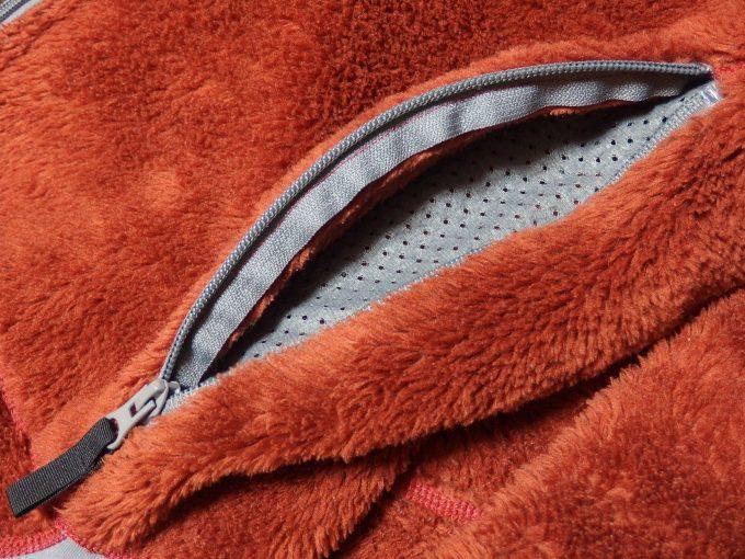 Lowe-alpine-ロウアルパイン-フリースジャケット-ベンチレーション機能を備えたポケット裏地