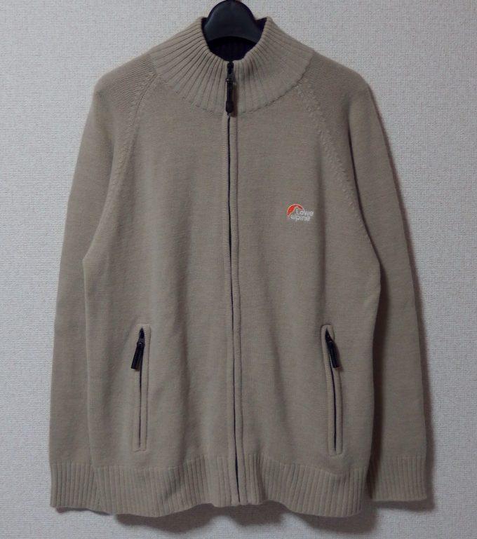 Lowe-alpine-ロウアルパイン-フルジップセーター-正面画像