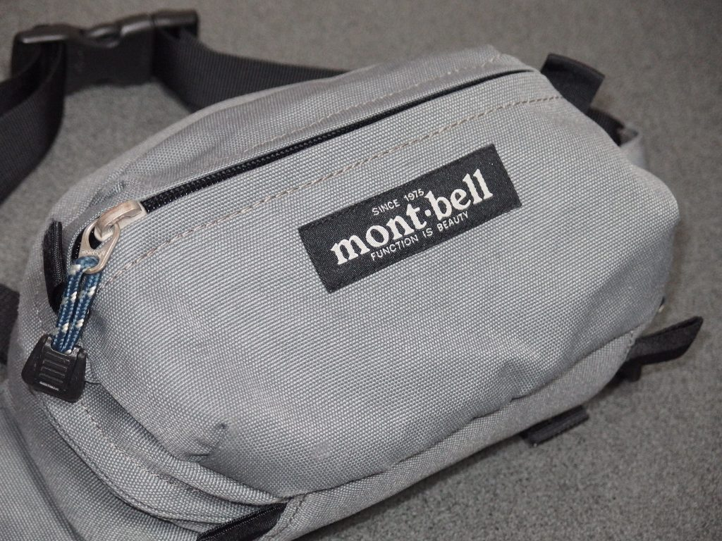 mont-bellモンベル ポーチ(ミニ)正面アップを撮影