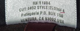 patagoniaパタゴニア-フリースジャケット-襟ぐりのラベル-2