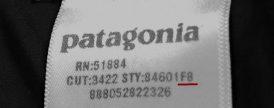 patagoniaパタゴニア-製造時期識別方法