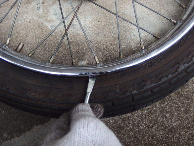 自転車用のタイヤレバー