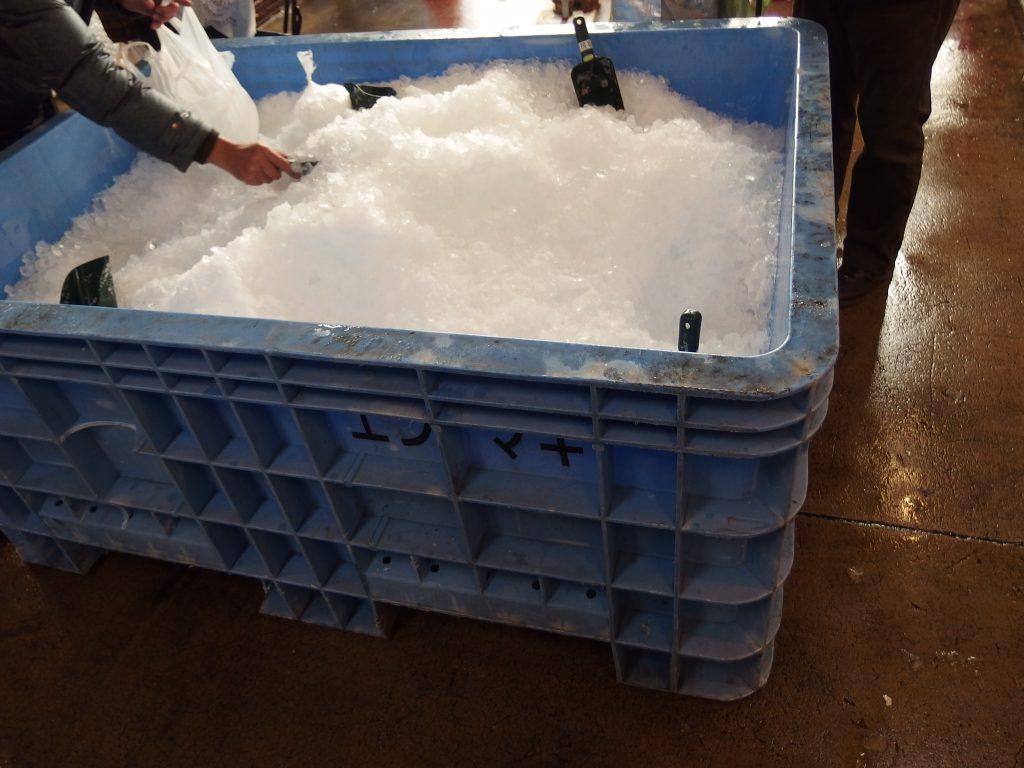 保冷用氷置き場