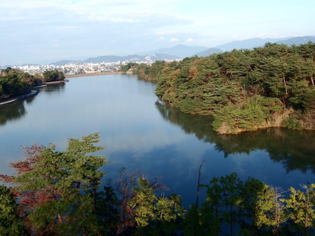 福岡県春日市『白水大池公園』展望台から